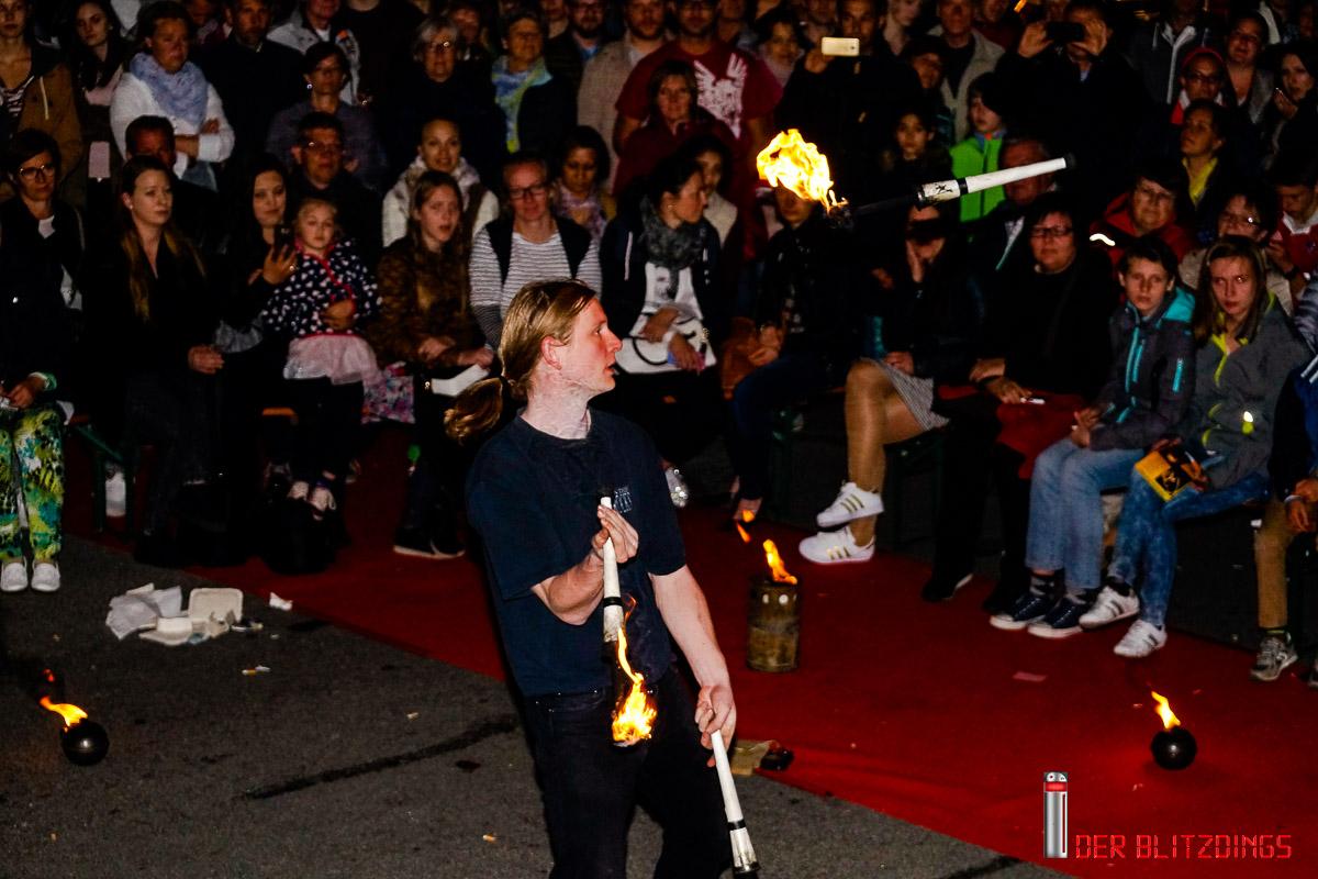 Faszination Feuershow auf der Modenacht in FFB 20052017
